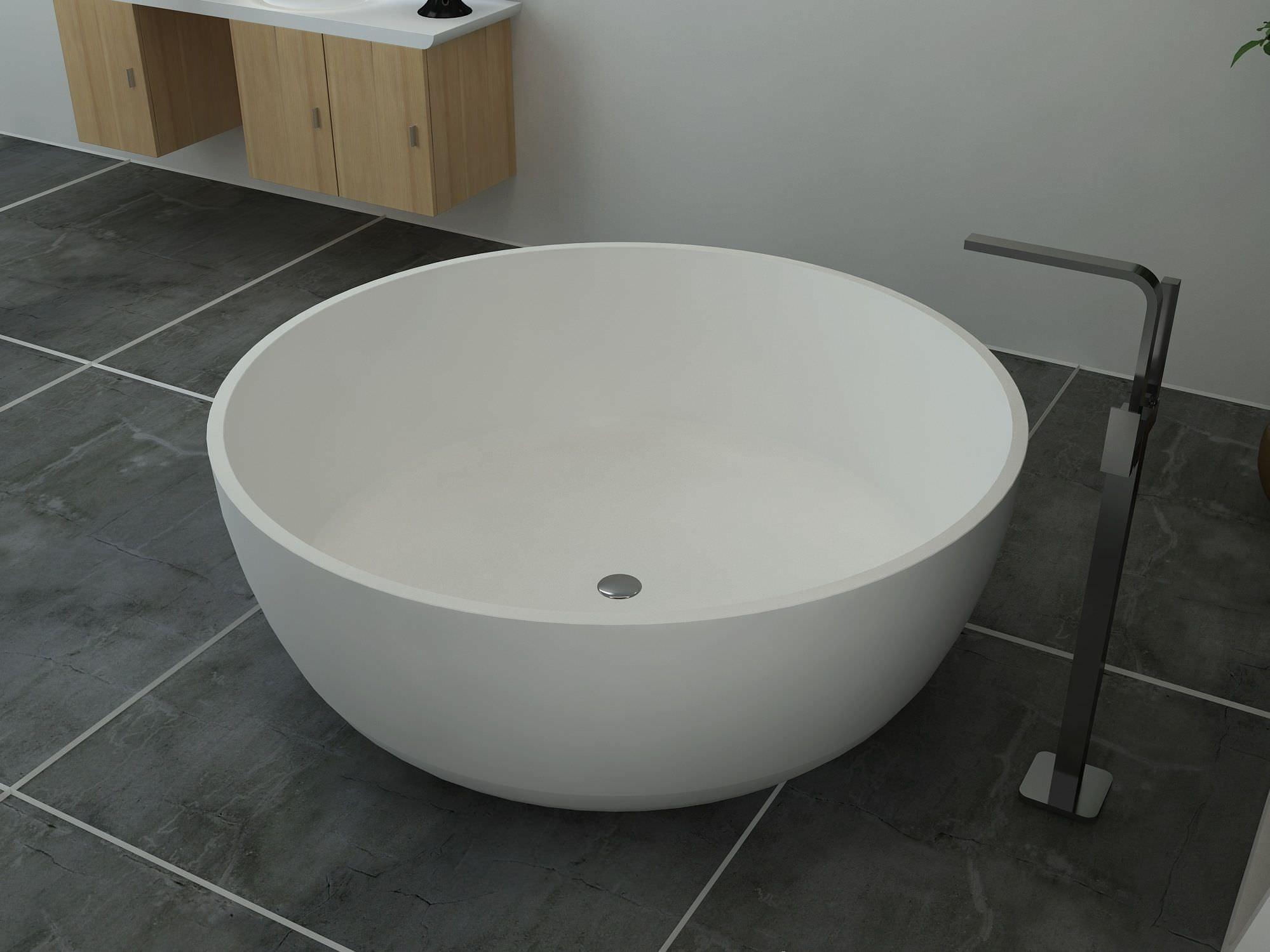 Vasca Da Bagno Tonda : Vasca da bagno da appoggio tonda in solid surface bs s