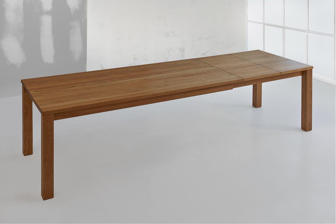 Tavoli Da Pranzo In Legno Massello : Tavolo da pranzo design scandinavo in quercia in noce in legno