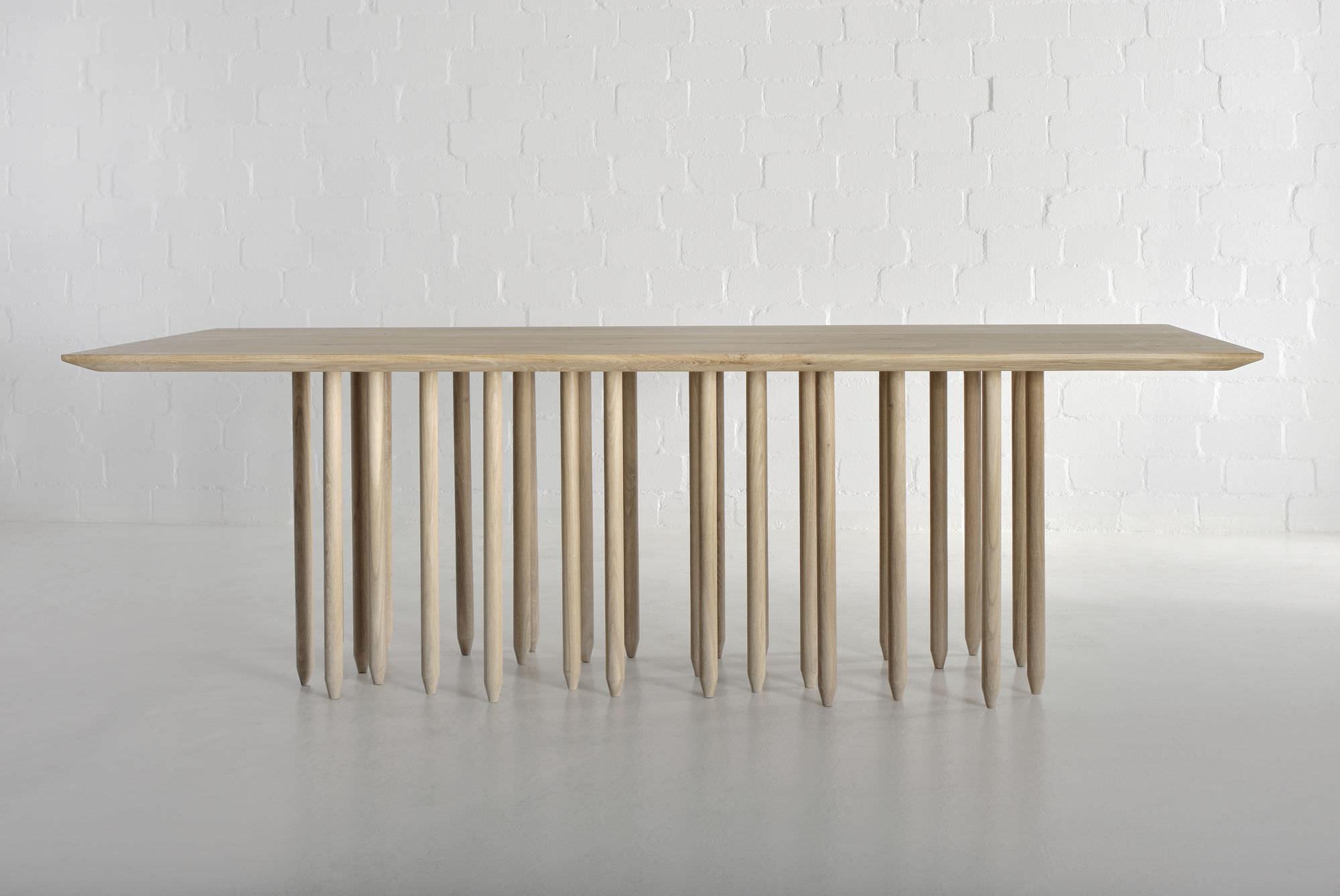 Tavolo design originale / in legno massiccio / rettangolare ...