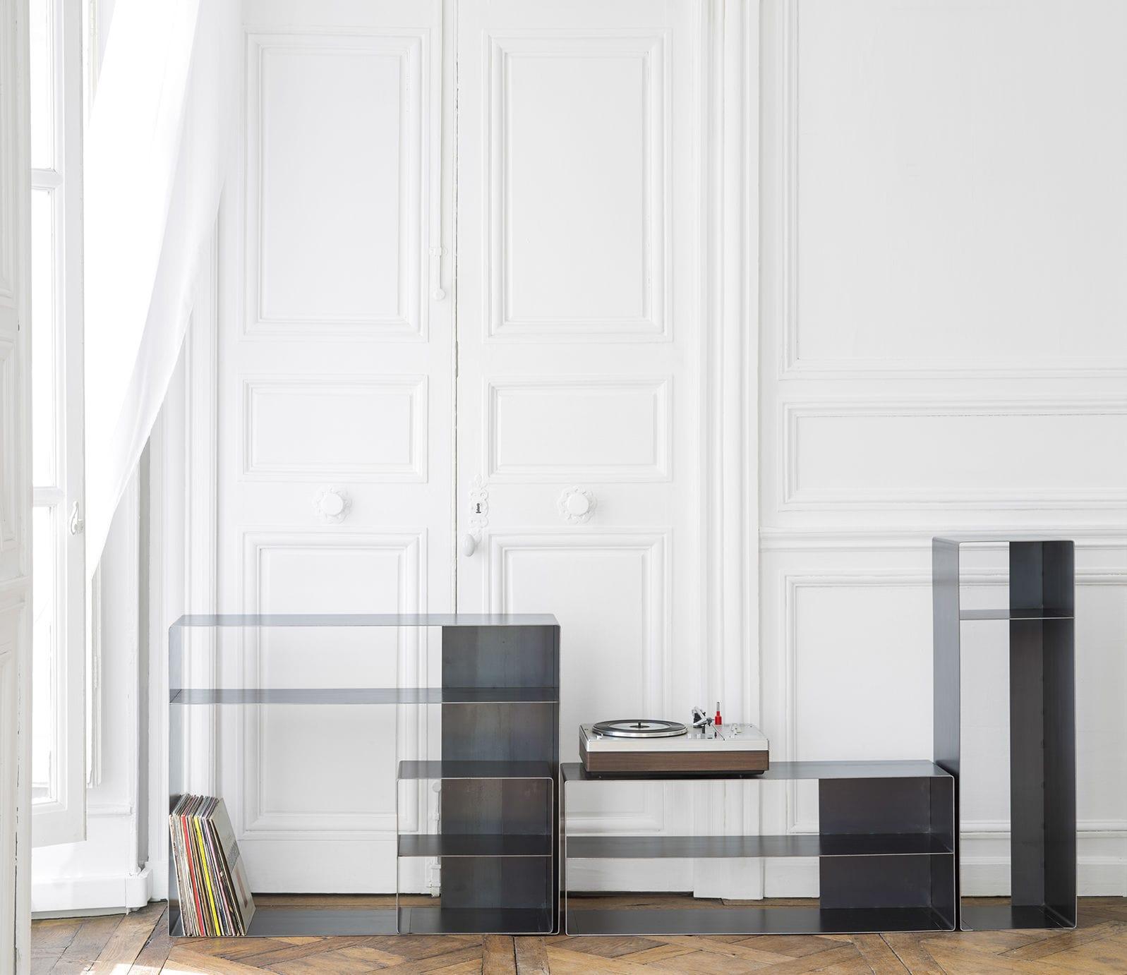 Credenza moderna / in acciaio - QUATTRO : 3 by Julien Vidame ...