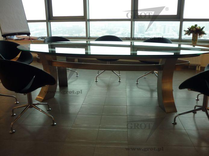 Tavoli Di Vetro Ovali : Tavolo da riunione moderno in vetro ovale stolik grot