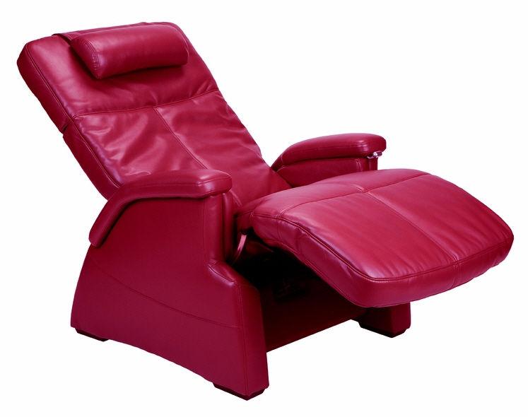 Poltrona moderna / in pelle / con poggiapiedi / reclinabile ...