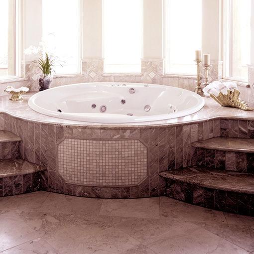 Vasca da bagno tonda / in acrilico / idromassaggio - HAWAII - Awal ...