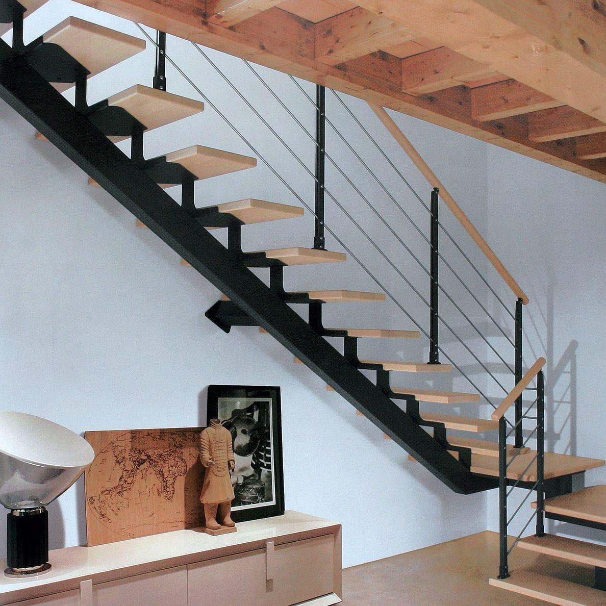 Famoso Scala a L / con gradini in legno / con struttura in metallo  TZ32