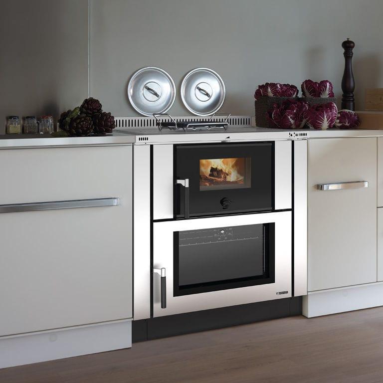 Blocco cucina a legna in acciaio inox in ghisa verona la