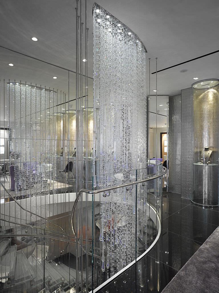 Lampadario moderno / in cristallo / in vetro soffiato / in acciaio ...