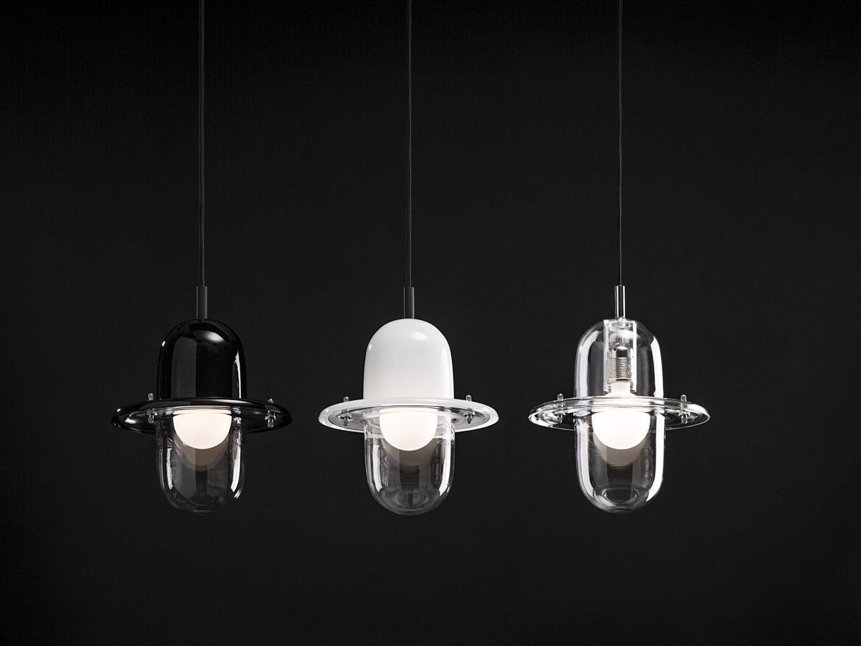 Lampade A Sospensione Design : Lampada a sospensione design industriale in vetro in acciaio