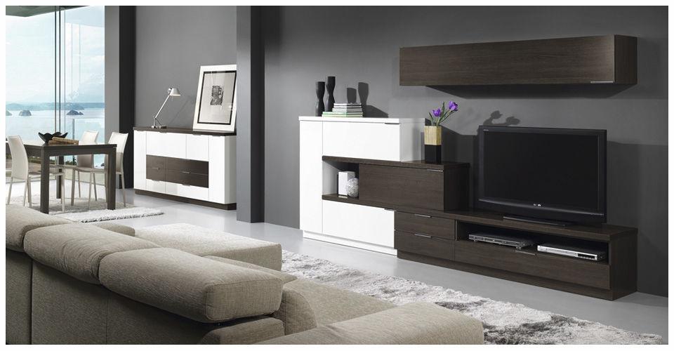 Parete attrezzata TV moderno / in legno - L500 : 9520 - Baixmoduls ...