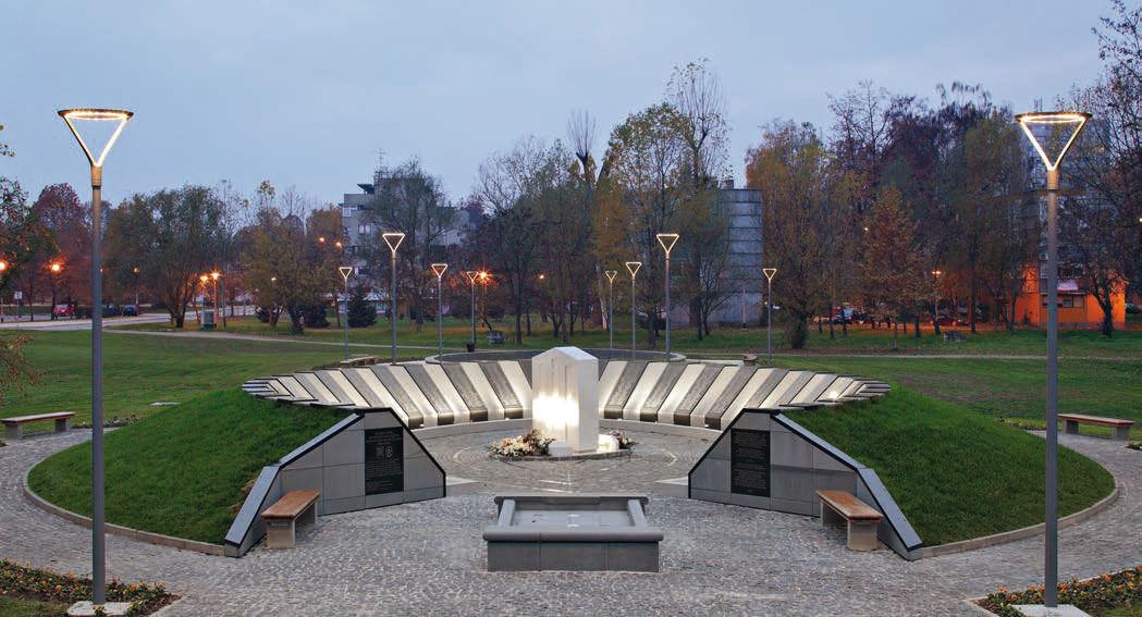 Lampione da giardino urbano moderno in ghisa di alluminio