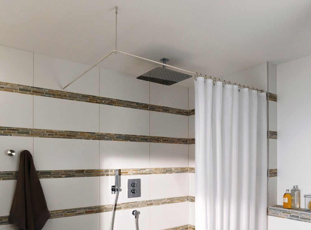 Tende Da Doccia Design : Barra per tenda da doccia in acciaio inossidabile dangolo