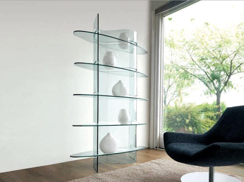 Scaffale design originale / con rivestimento in vetro temperato ...