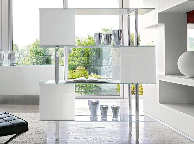 Libreria moderna / con rivestimento in vetro temperato - DAMA ...