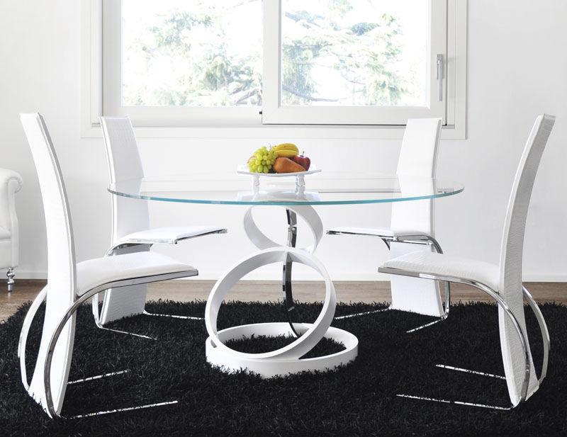 Tavoli Da Pranzo Design : Tavolo da pranzo design originale in vetro temprato in acciaio