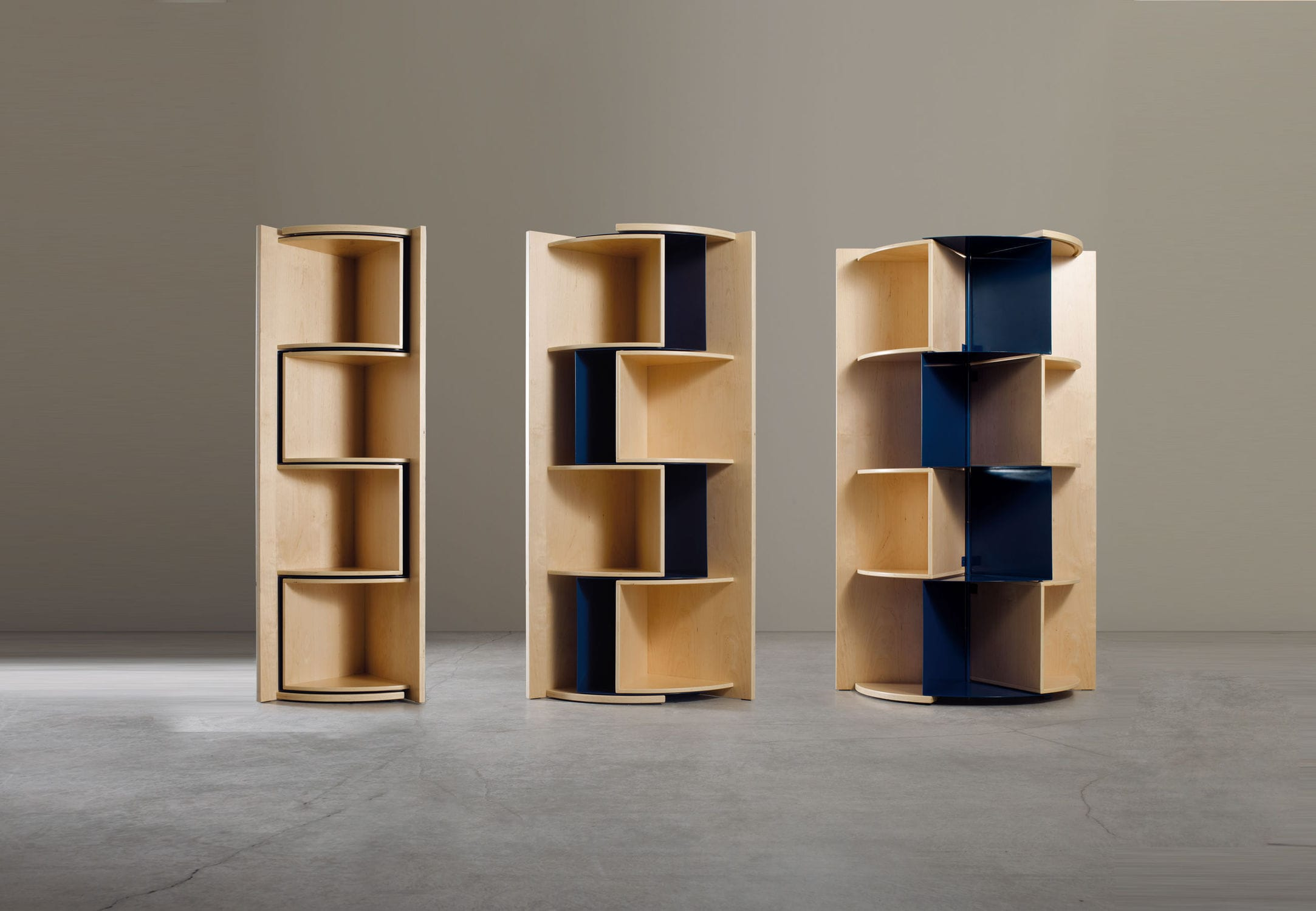 Libreria ad angolo / moderna / in legno compensato - INCANTO by ...