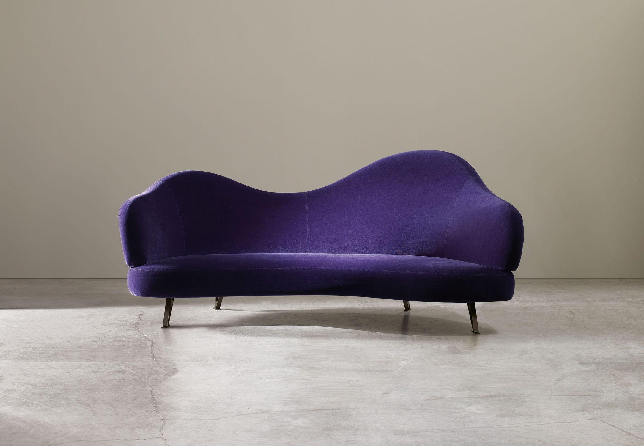 Divano Lino Grezzo : Divano design originale in lino viola charming by arc lab