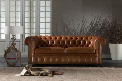 Divano letto / chesterfield / in pelle / 2 posti - CHESTERFIELD ...