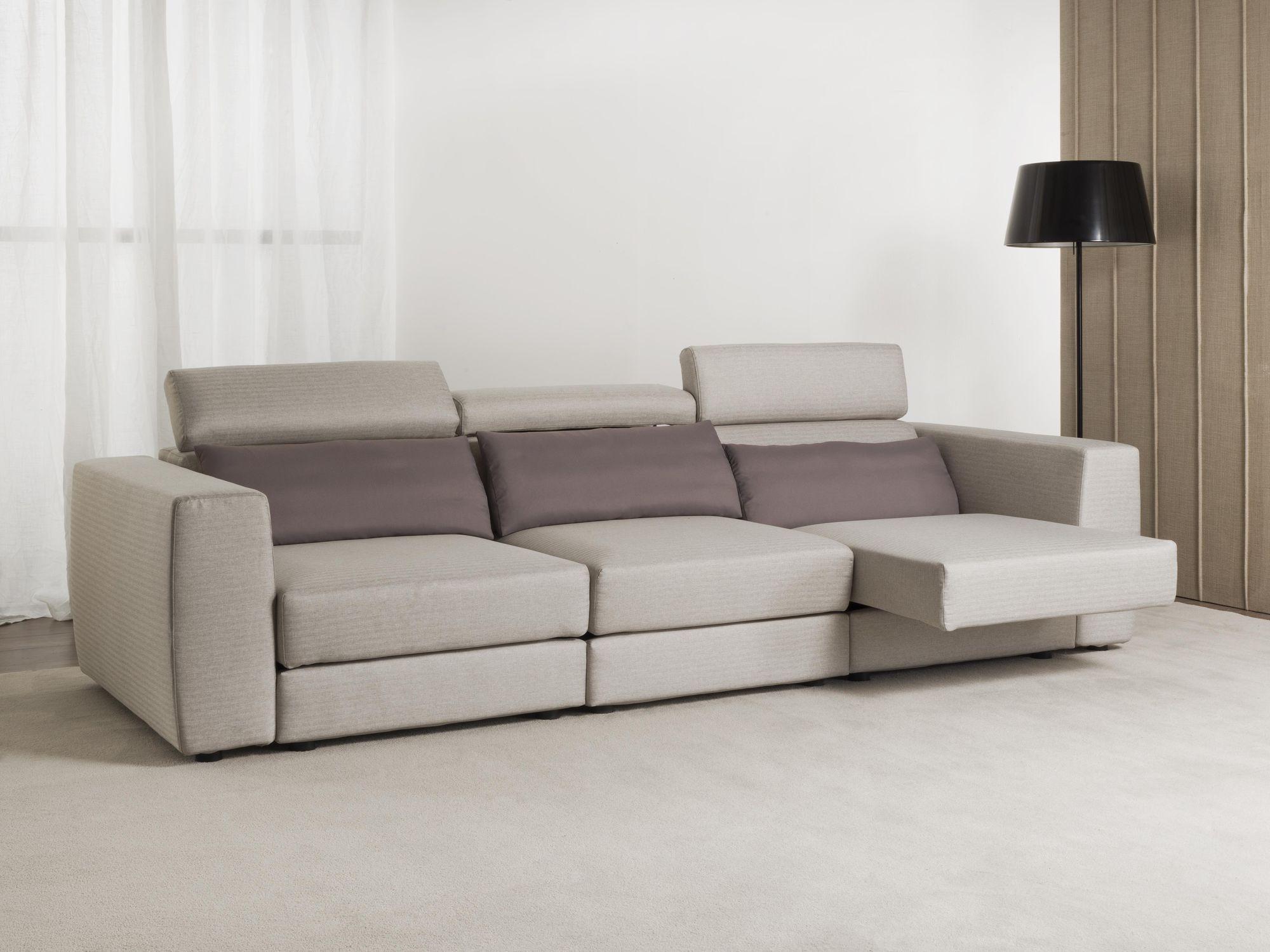 Divano moderno / in tessuto / reclinabile - RELAX - Divani ...