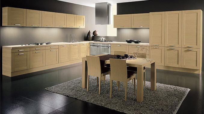 Cucina moderna / in legno massiccio / impiallacciata in legno / in ...