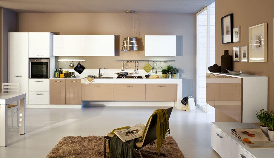 Cucina moderna / in legno / laccata / lucida - SOLE - Arrex