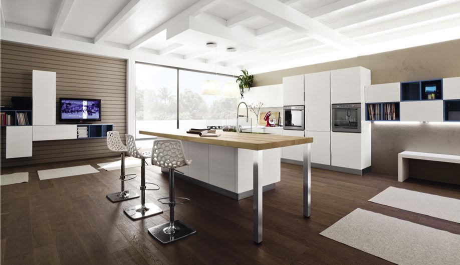 Amato Cucina moderna / in legno / con isola / laccata - ANICE - Arrex OM02