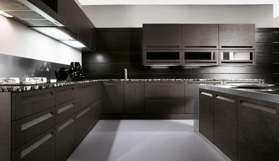Cucina moderna / in legno massiccio / con isola / laccata - IBISCO ...