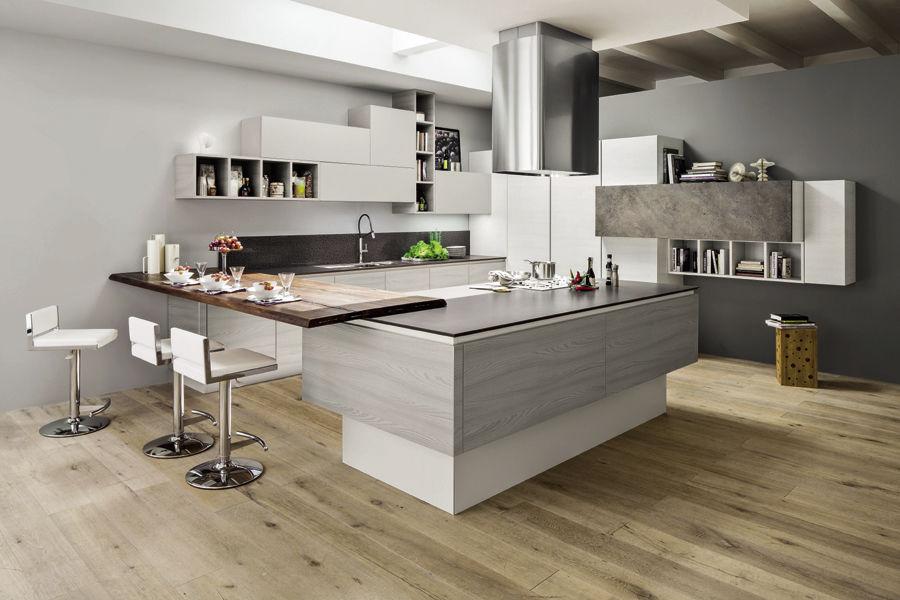 Cucina moderna / in legno / con isola - MANGO - Arrex