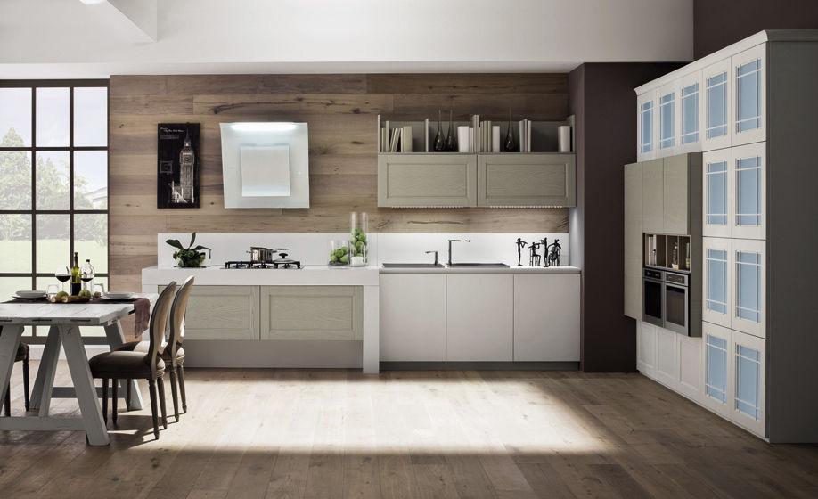 Cucina moderna / in legno / laccata / con impugnature - ALICE - Arrex