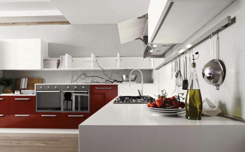 Cucina moderna / in laminato / laccata / con impugnature - CEDRO ...