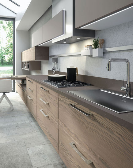 Cucina moderna / in legno - ZOE DESIGN: BRUGES - Ar-Tre