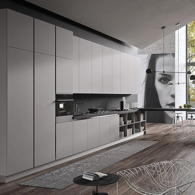 Cucina moderna / in legno / senza maniglie - SILKKI: GORIZIA - Ar-Tre