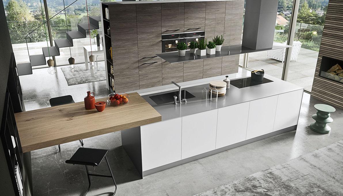 Cucina moderna / in legno / con isola - NAVARRA: SALISBURGO - Ar-Tre