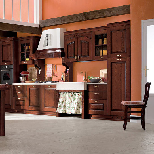 Cucina classica / in legno / con impugnature - PAESANA - Ar-Tre