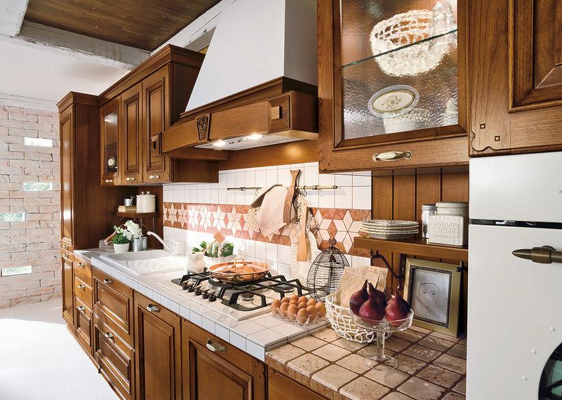 Cucina classica / in legno massiccio / con isola - EPOCA - Ar-Tre