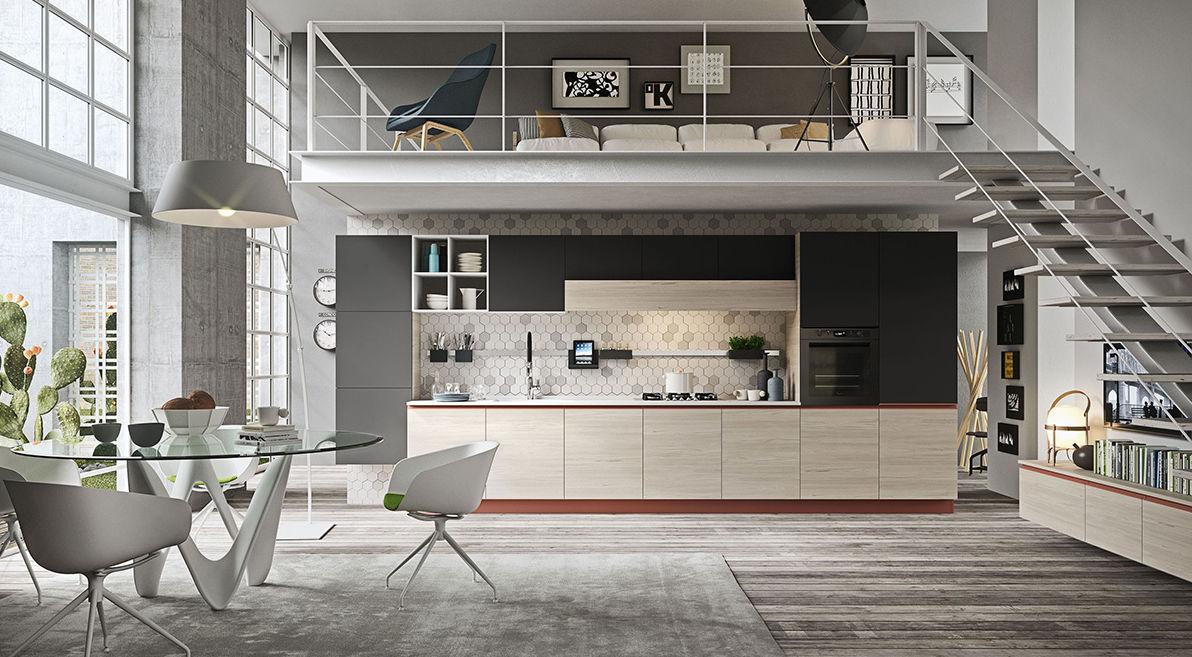 Cucina moderna / in legno / senza maniglie - NAVARRA: VENEZIA - Ar-Tre