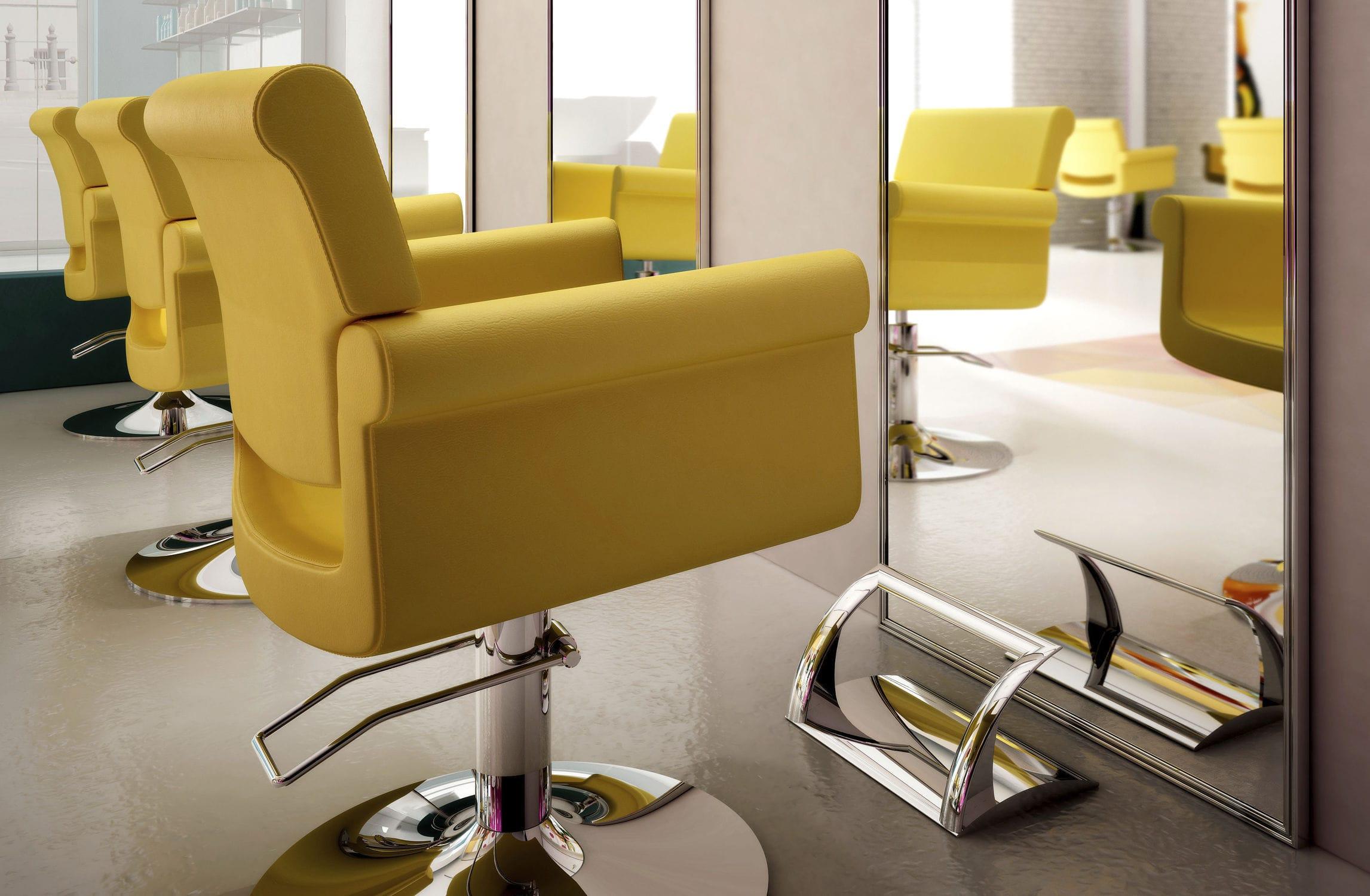 Poggiapiedi moderno in alluminio per parrucchiere madame