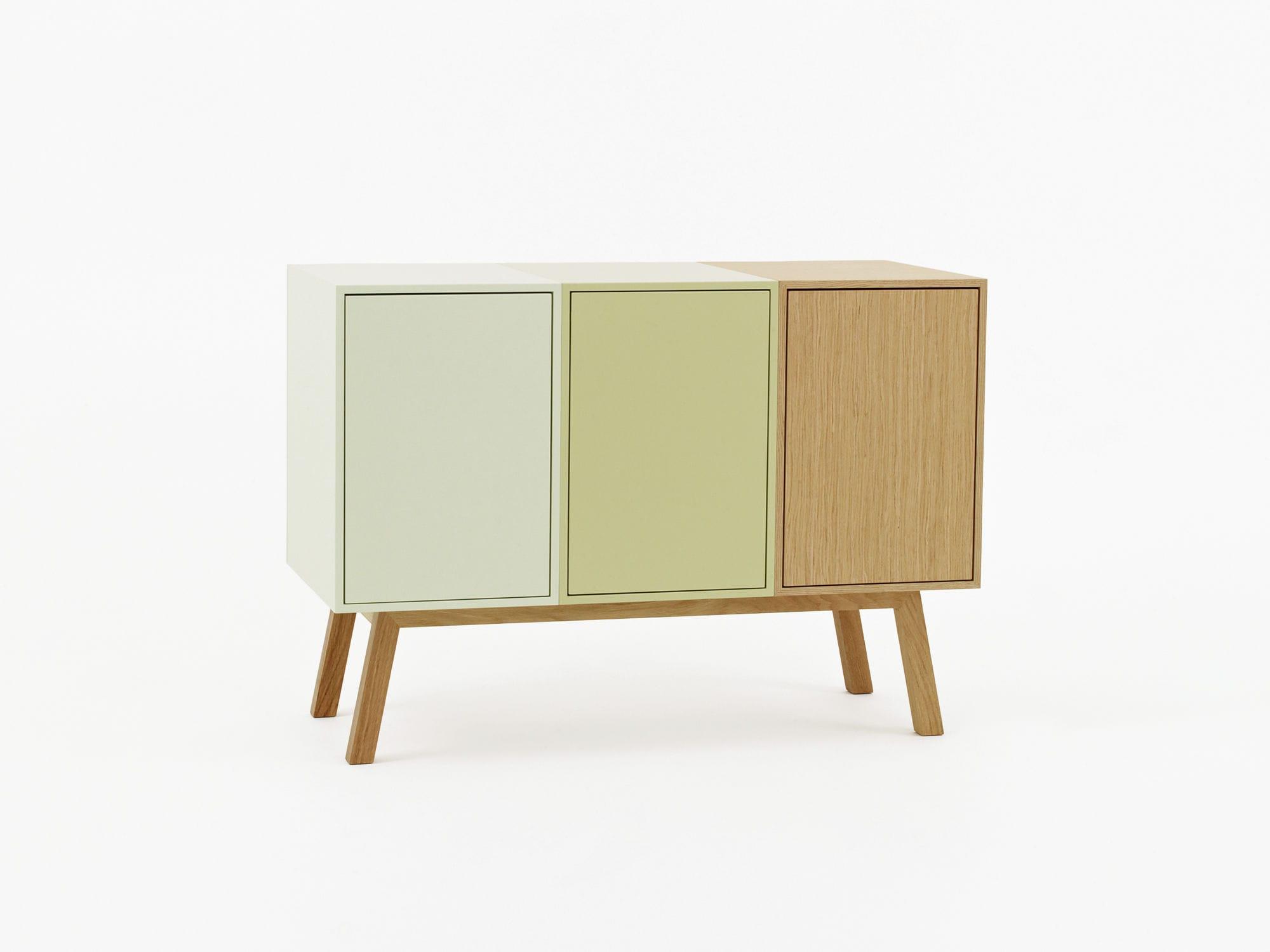 Credenza Moderna Alta Bianca : Credenza moderna in legno laccato mdf modulare