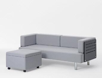 Divano letto / moderno / in tessuto / 2 posti - PLUS POUF by Getama ...