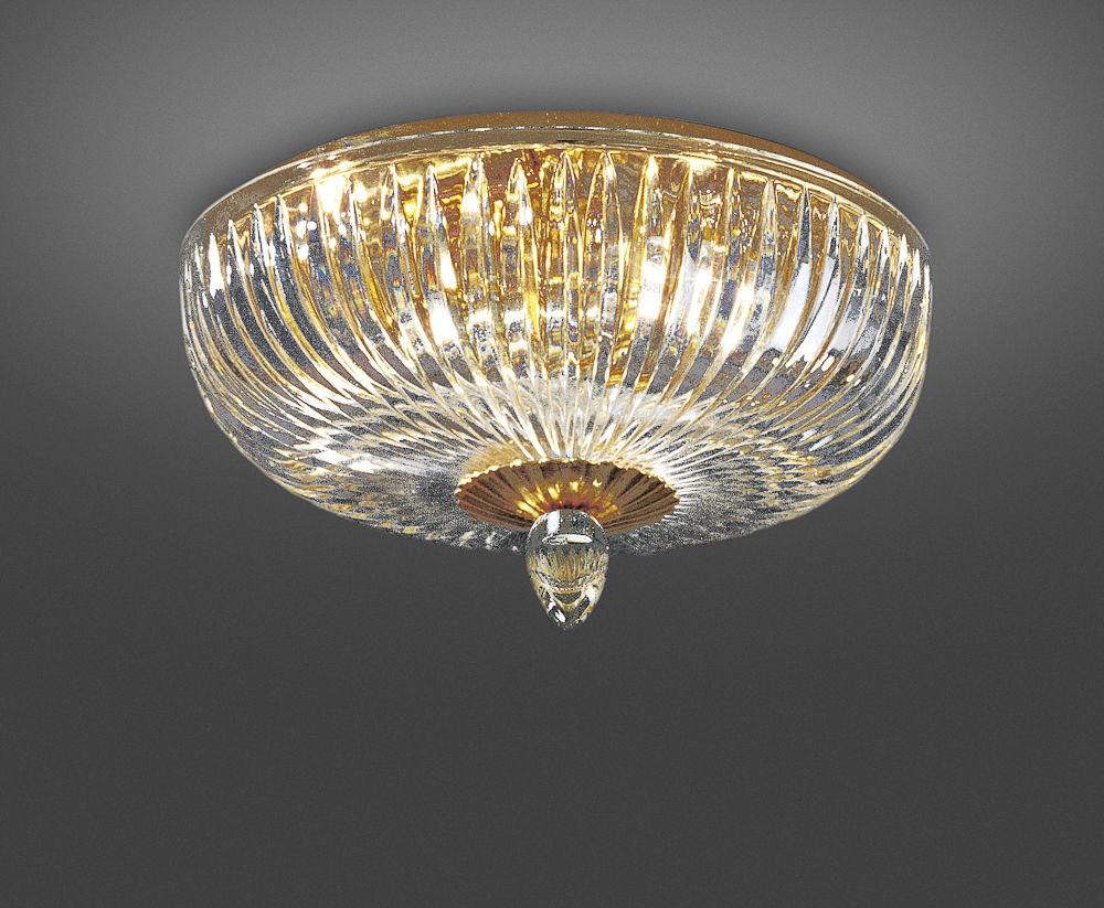 Plafoniere Cristallo : Plafoniera classica in cristallo metallo led 316 4a italamp