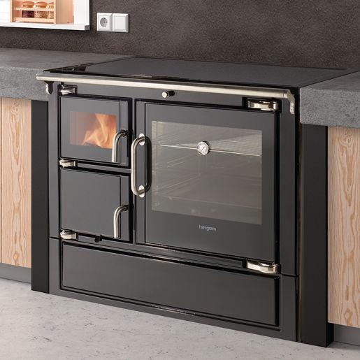 Blocco cucina a legna / in acciaio inox - ECLECSYS - HERGOM