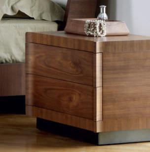 comodino moderno / in legno / rettangolare - 2201 - ferri mobili - Mobili Moderni In Noce