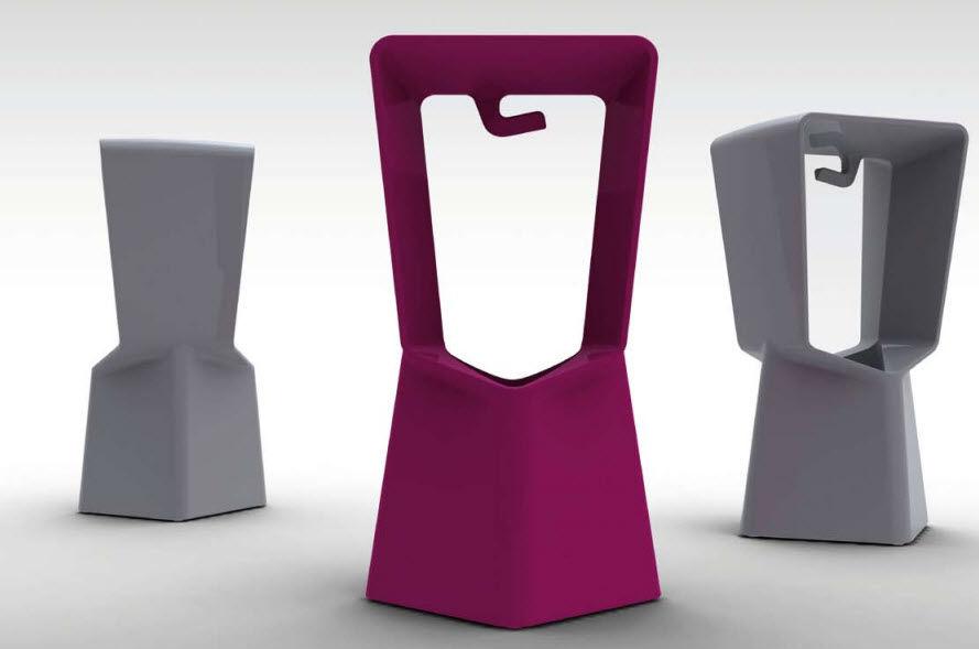 Sgabello design originale in plastica da giardino kenny by