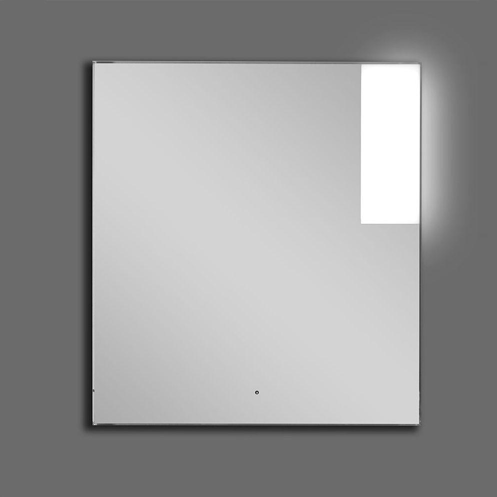 Specchio da bagno a muro luminoso moderno rettangolare cubo
