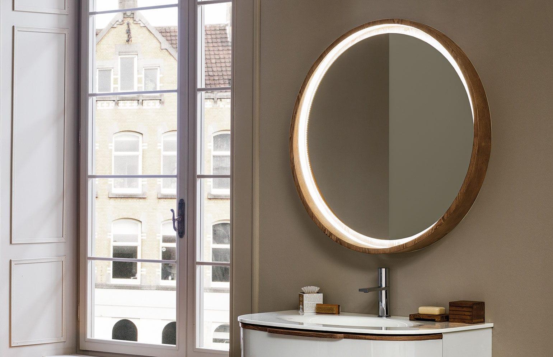 Specchio da bagno a muro / luminoso / moderno / rotondo - INCANTO ...
