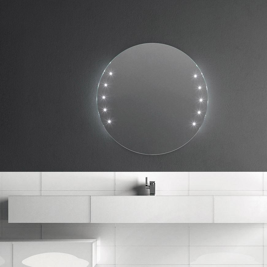 Specchio da bagno a muro / luminoso a LED / moderno / rettangolare ...