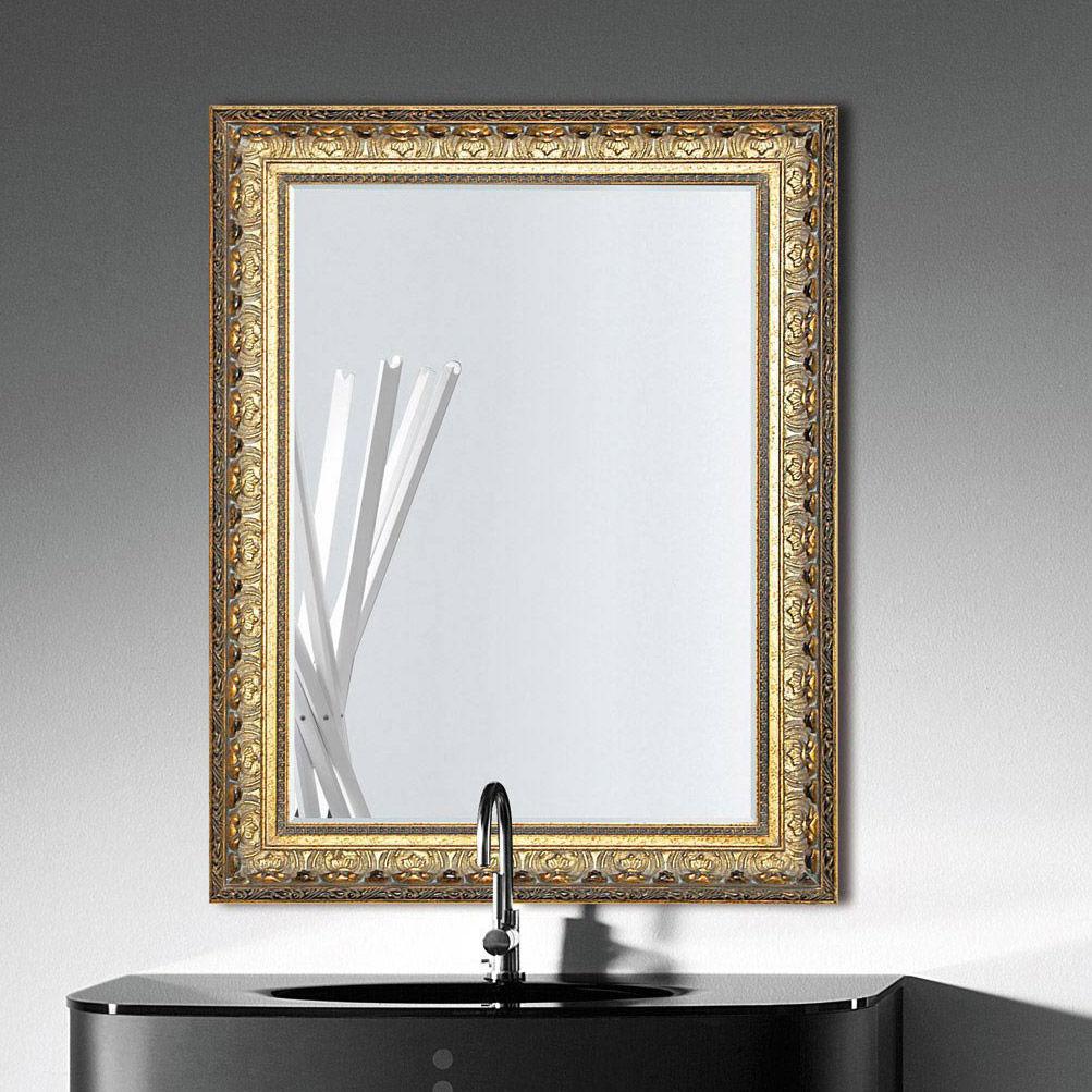 Specchio da bagno a muro / classico / rettangolare / in metallo ...