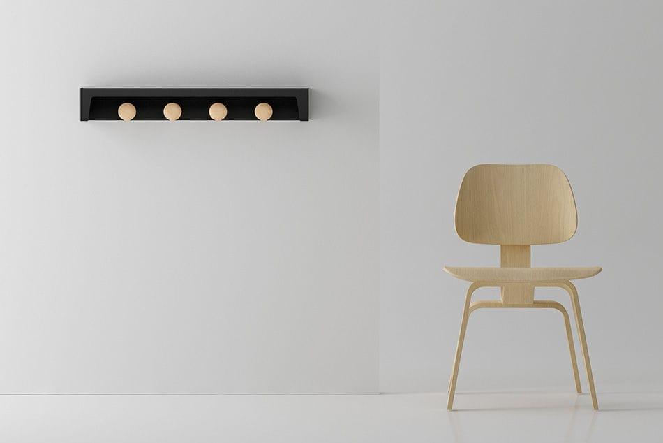 Appendiabiti a muro / moderno / in legno / contract - BERGAMO by La ...