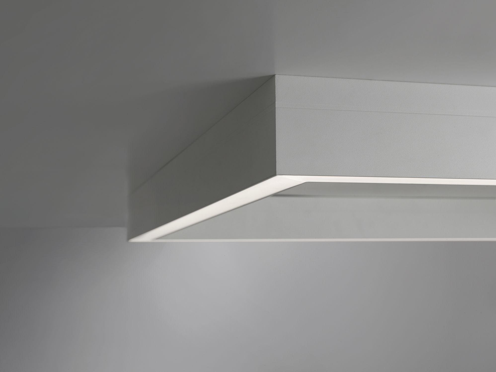 Plafoniera Led Slim Quadrata : Plafoniera moderna quadrata in alluminio