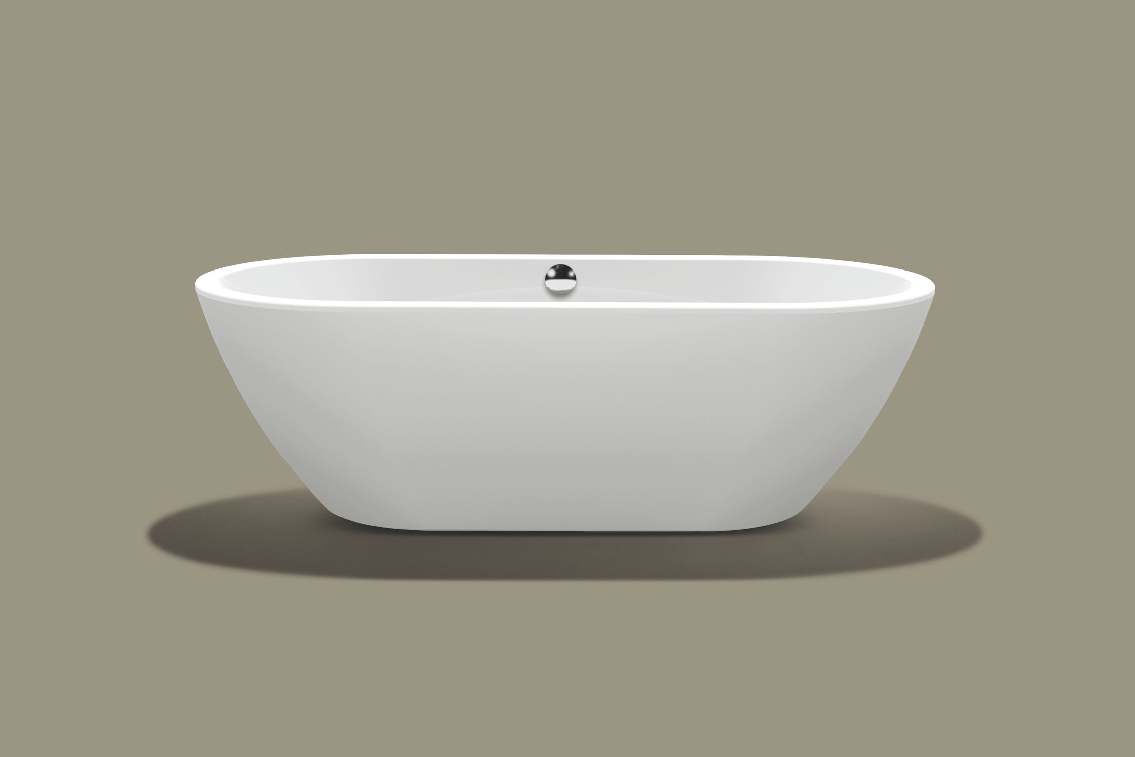 vasca da bagno da appoggio ovale in acrilico form