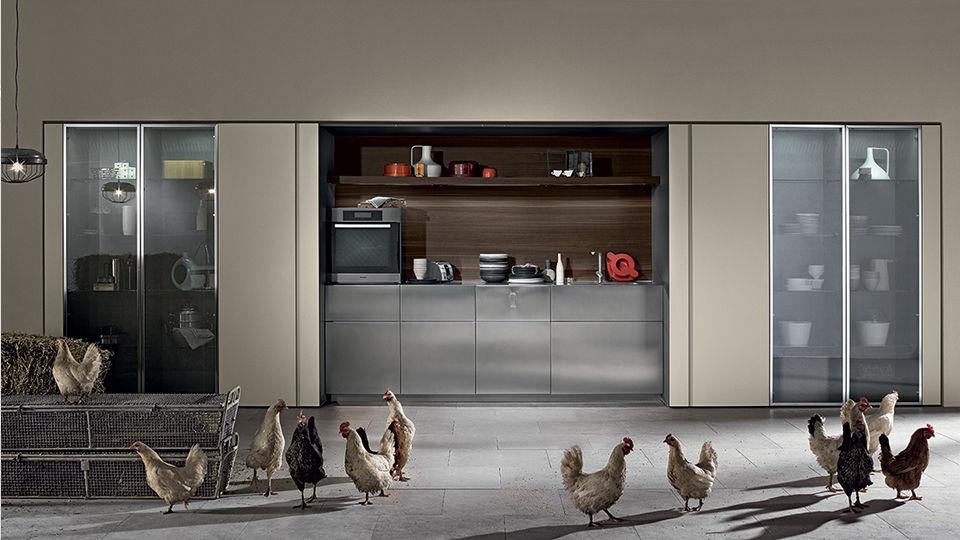Cucina moderna / in metallo / a scomparsa / laccata - TU23A by ...