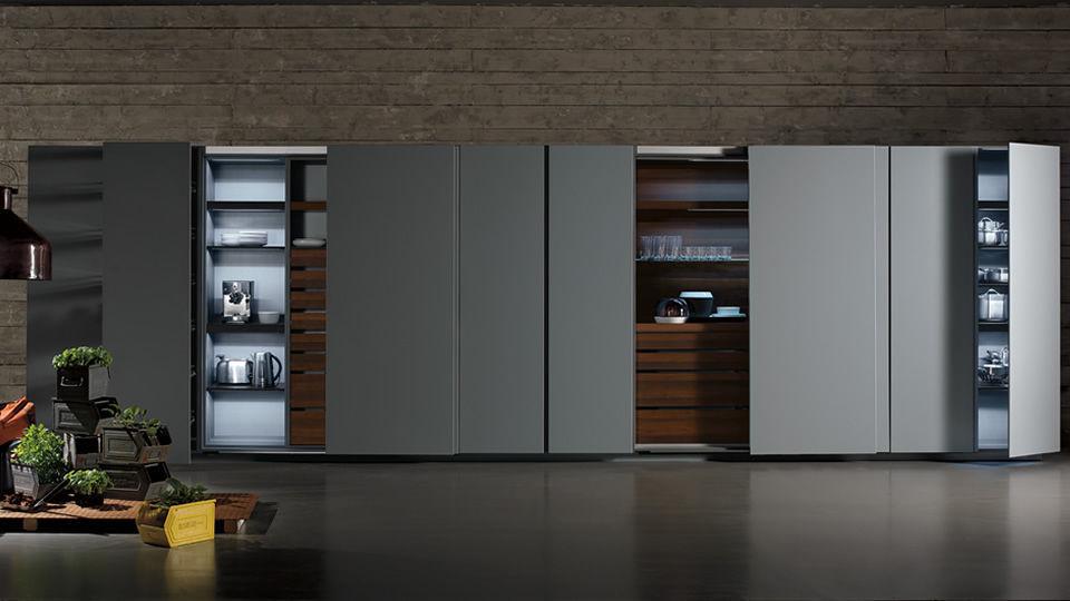 Cucina moderna / in melamminico / in legno / a scomparsa - TU23 by ...